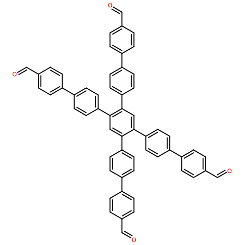 4'',5''-bis(4'-formyl-[1,1'-biphenyl]-4-yl)-[1,1':4',1'':2'',1''':4''',1''''-quinquephenyl]-4,4''''-dicarbaldehyde